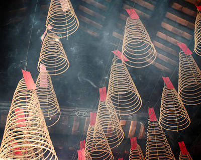 Poster featuring the photograph Incense Coils by Lucinda Walter