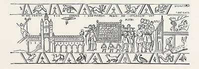 Incidents Copied From The Bayeux Tapestry Poster by English School