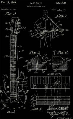 Inclined Guitar Body Poster
