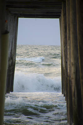 Incoming Tide At 32nd Street Pier Avalon New Jersey Poster by Bill Cannon