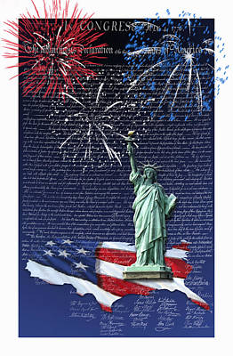 Poster featuring the digital art Independence Day by Kathleen Holley