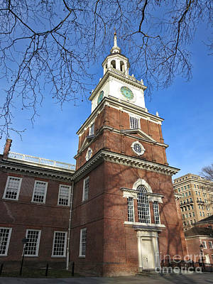 Independence Hall Bell Tower Poster by Olivier Le Queinec