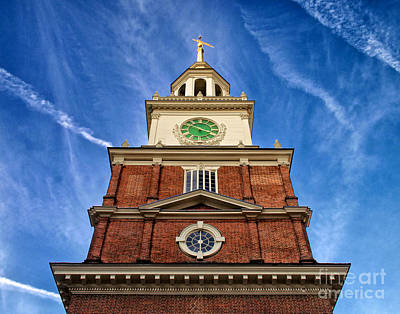 Independence Hall Clock Tower Poster by Mark Miller