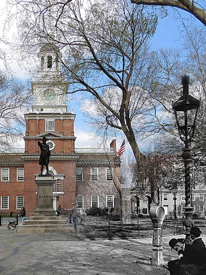 Independence Hall Courtyard Poster