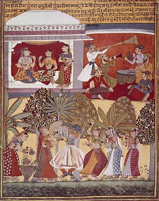 India. Calcutta. Krishnas Dance Poster