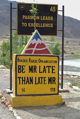 India, Jammu & Kashmir, Ladakh Highway Poster by Ellen Clark