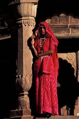 India, Jodpur, Rajasthan, Gardens Poster by Claudia Adams