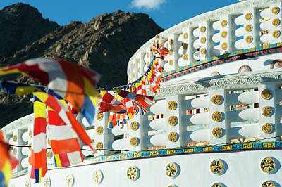 India, Ladakh, Leh, Prayer Flags Poster