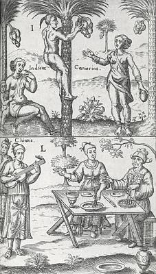 Indian And Chinese People, 17th Century Poster by Science Photo Library