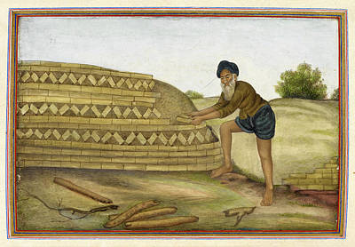 Indian Brickmaker Poster by British Library