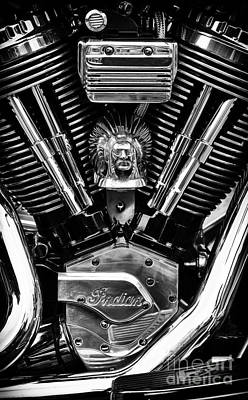 Indian Chief Engine Poster by Tim Gainey