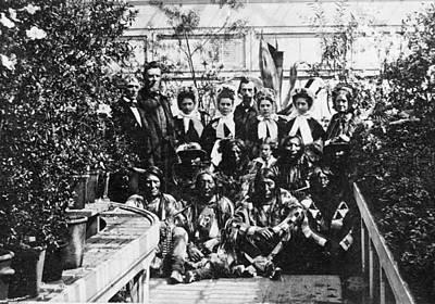 Indian Delegation, 1863 Poster