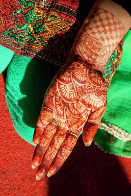 Indian Henna Tattoo Design On Hand Poster