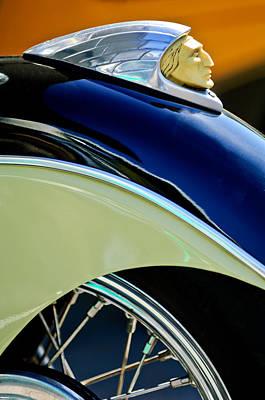 Indian Motorcycle Fender Emblem Poster by Jill Reger