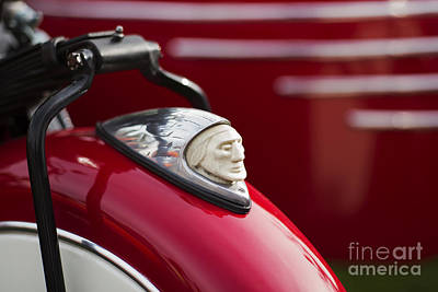 Indian Motorcycle Fender  Poster by Tim Gainey