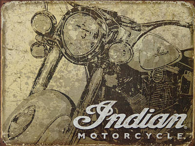 Indian Motorcycle Poster Poster