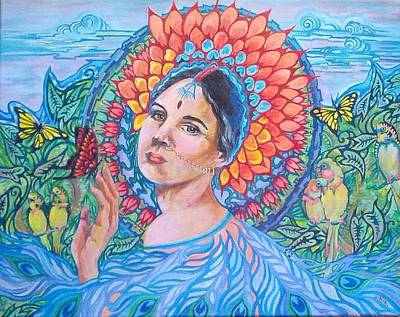 Poster featuring the painting Indian Spring by Suzanne Silvir