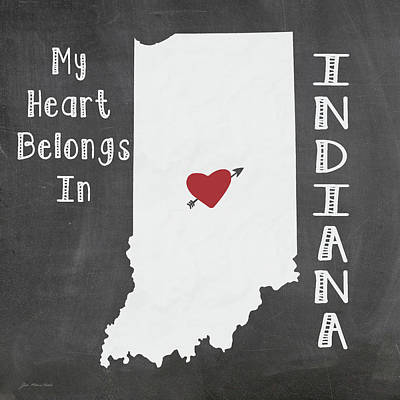 Indiana Poster by Jo Moulton