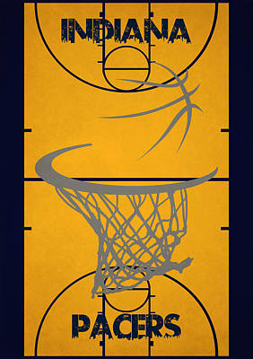Indiana Pacers Court Poster by Joe Hamilton