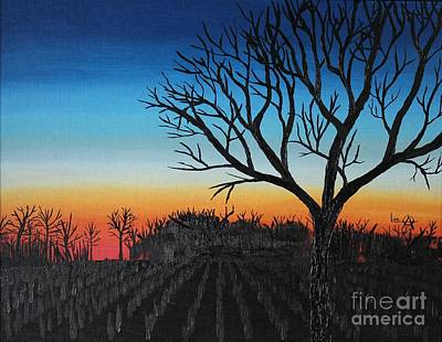 Indiana Sunset Poster by Lee Alexander