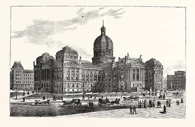 Indiana The New State House At Indianapolis Poster