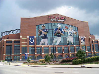 Indianapolis Colts Lucas Oil Stadium Poster