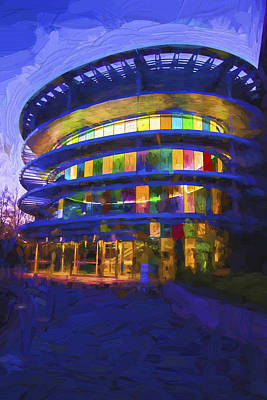 Indianapolis Indiana Museum Of Art Painted Digitally Poster by David Haskett