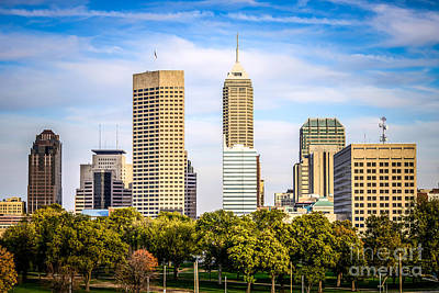 Indianapolis Skyline Picture Poster by Paul Velgos