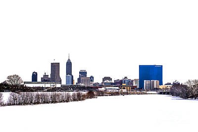 Indianapolis White Out Poster by David Haskett