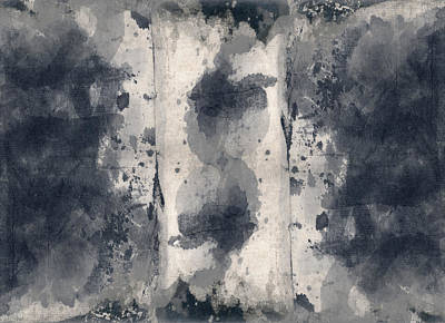 Indigo Clouds 3 Poster by Carol Leigh