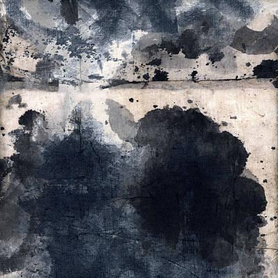 Indigo Clouds 4 Poster by Carol Leigh