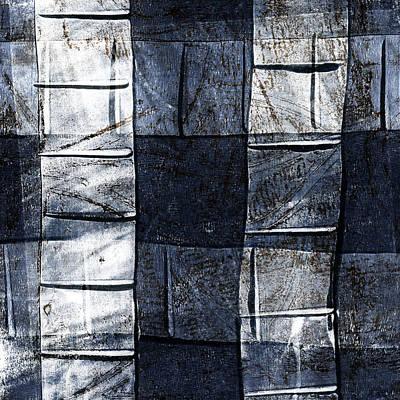 Indigo Squares 2 Of 5 Poster by Carol Leigh