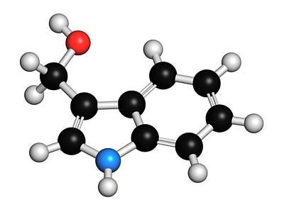 Indole-3-carbinole Molecule Poster by Molekuul