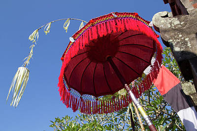 Indonesia, Bali Balinese Parasol Poster by Emily Wilson
