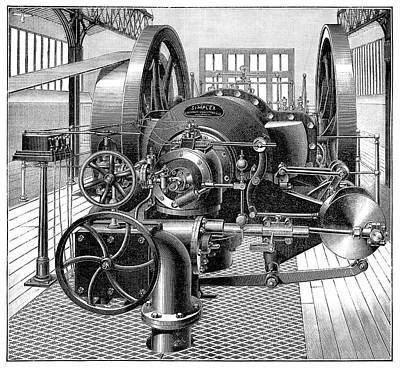Industrial Gas Engine Poster