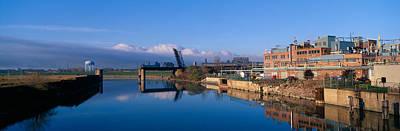 Industrial Landscape Along Rogue River Poster