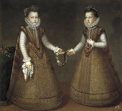 Infanta Isabella Clara Eugenia And Catalina Micaela Of Spain Poster by Alonso Sanchez Coello