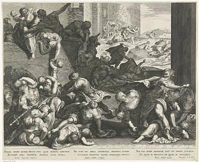 Infanticide In Bethlehem, Aegidius Sadeler Poster