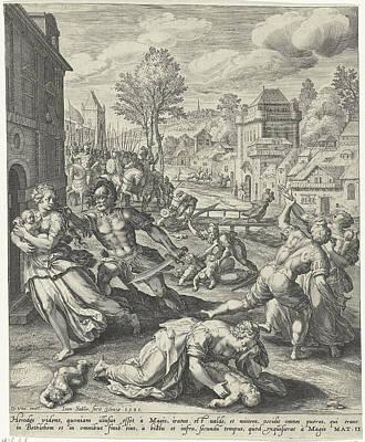 Infanticide In Bethlehem, Johann Sadeler Poster