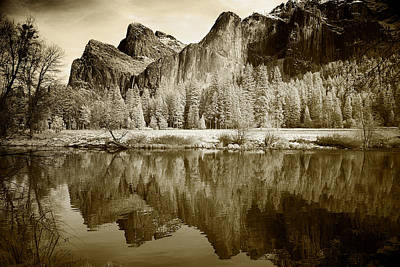Infrared View Of Yosemite Poster