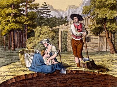 Inhabitants Of The Austrian Alps Making Poster