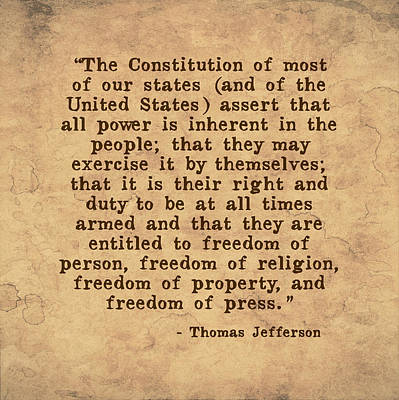 Inherent Power And Freedoms Poster