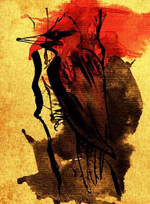 Ink Woodpecker Poster by Francisca Fernandez
