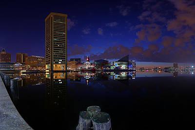 Inner Harbor At Baltimore Poster
