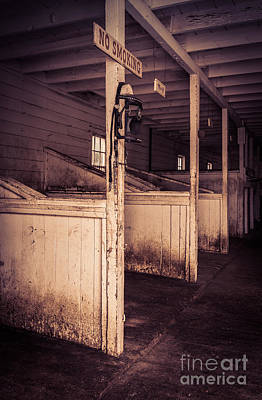 Inside An Old Horse Barn Poster by Edward Fielding
