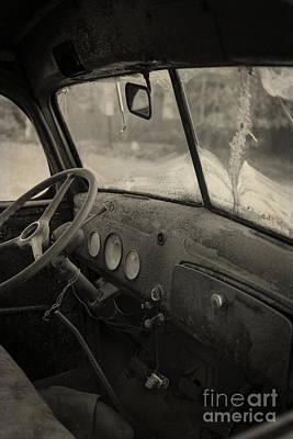 Inside An Old Junker Car Poster by Edward Fielding