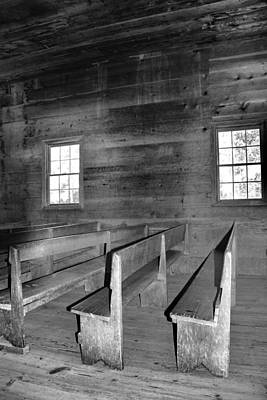 Inside Cades Cove Primitive Baptist Church Poster by Dan Sproul