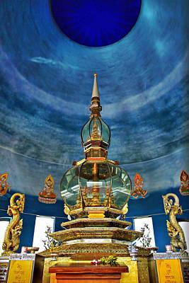 Inside Crystal Pagoda Poster by Suradej Chuephanich