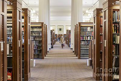 Inside Harvard Langdell Library Poster