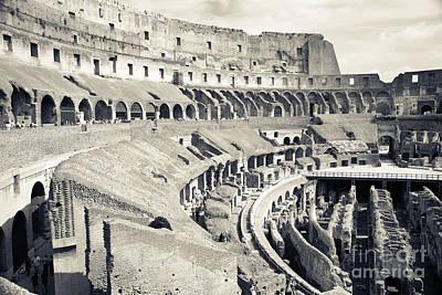 Inside The Colosseum Poster